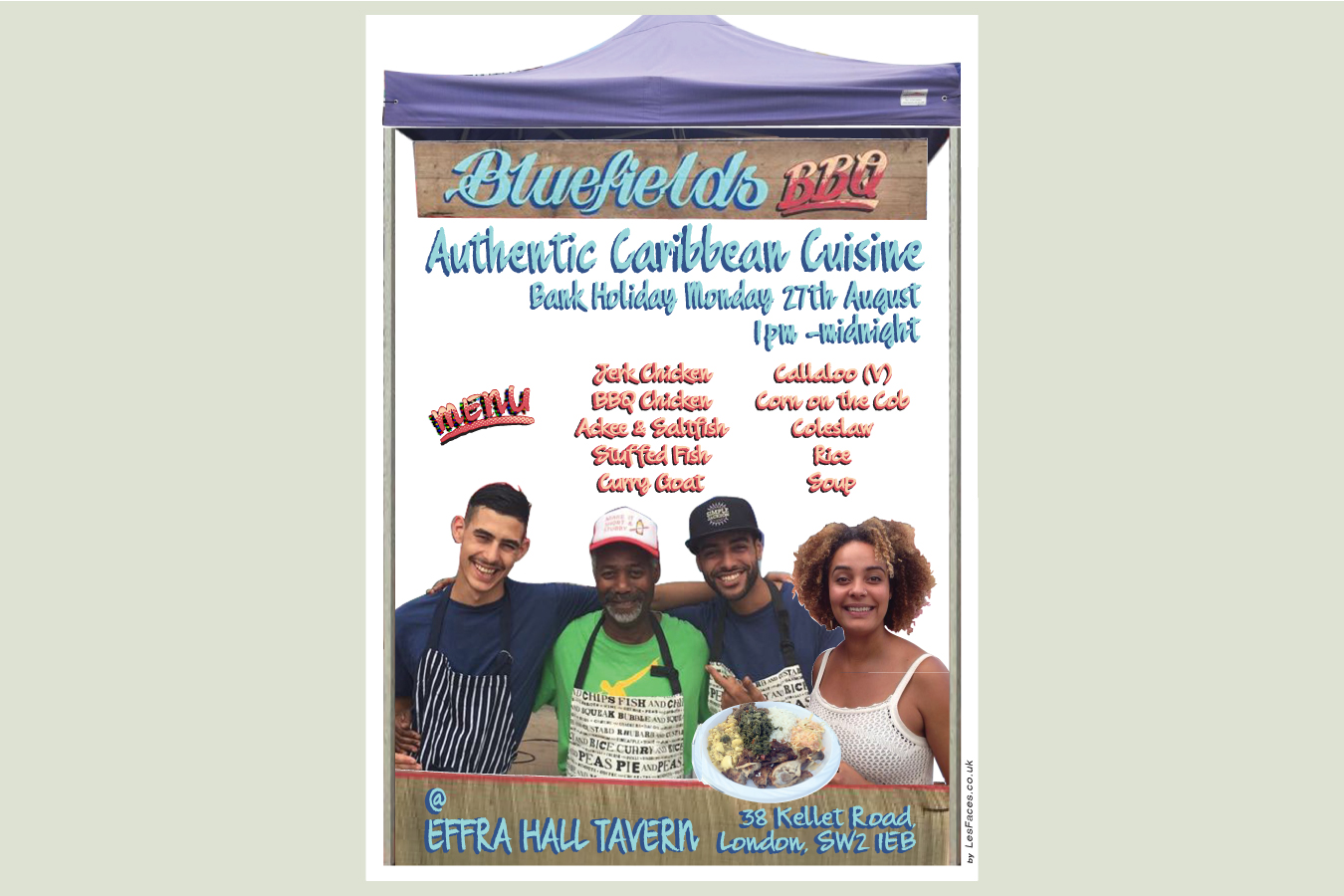 Flyer for Bluefields BBQ